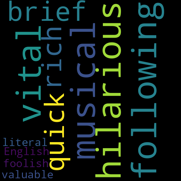4 Adjectives to Describe « excerpt
