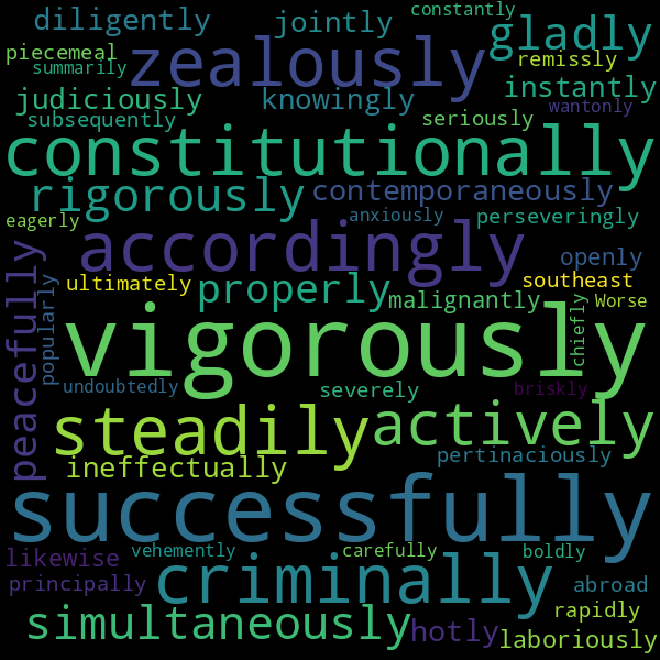 9 Adverbs for « prosecute »