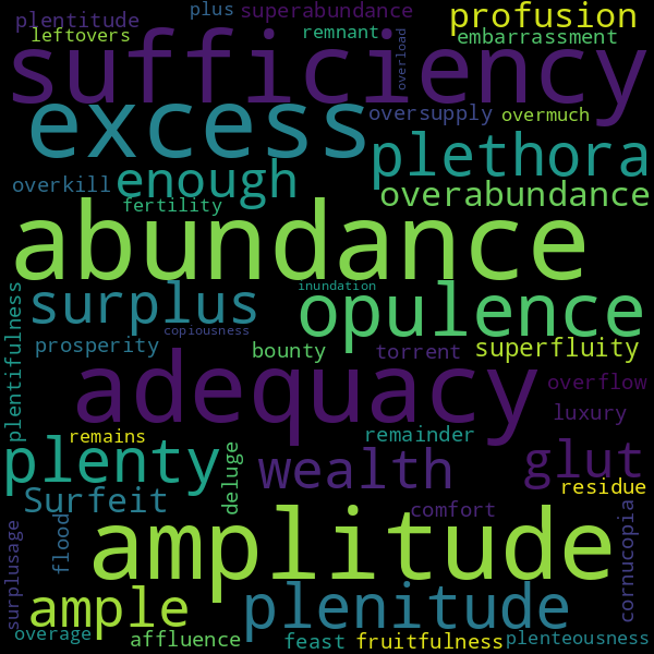 7 Antonyms for « shortage »