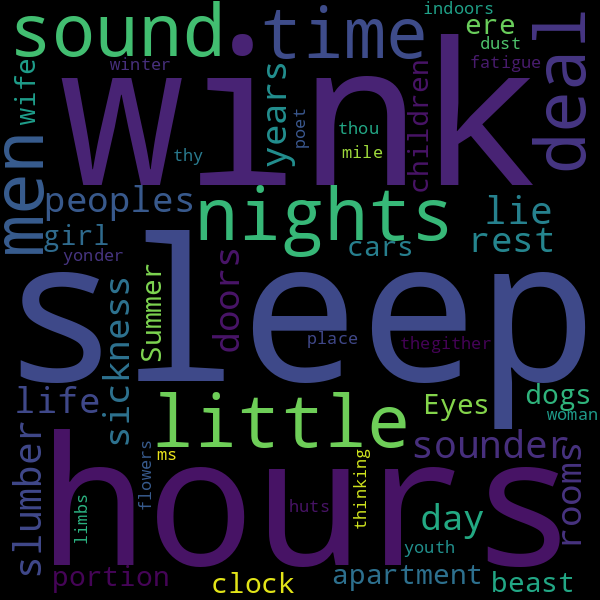 50 collocations for « sleep »