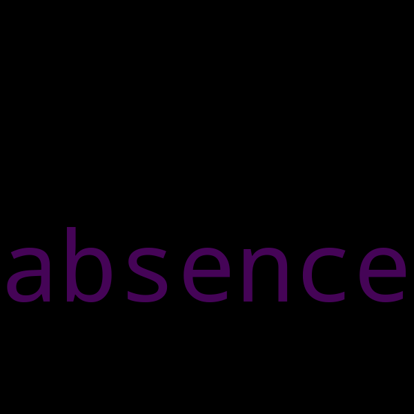 50 example sentences with « absence »