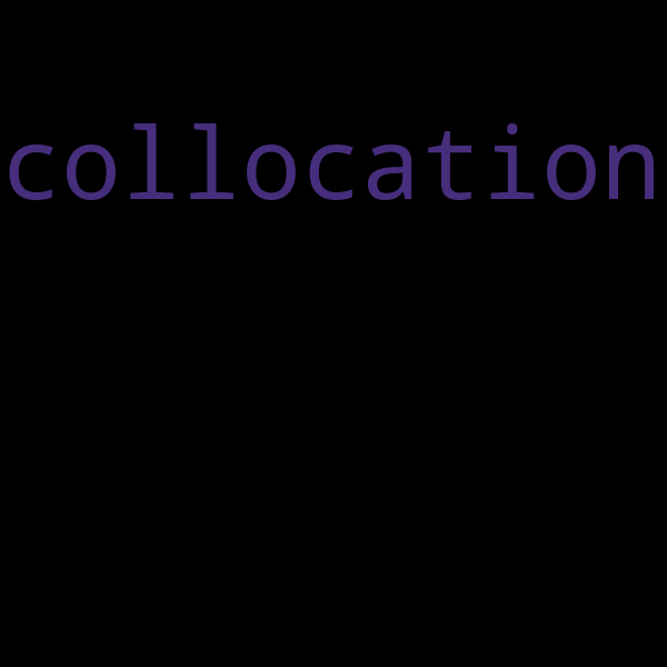 "36 examples : Use ""collocation"" in a sentence"