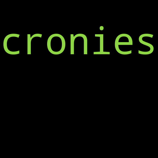 15 example sentences with « cronies »