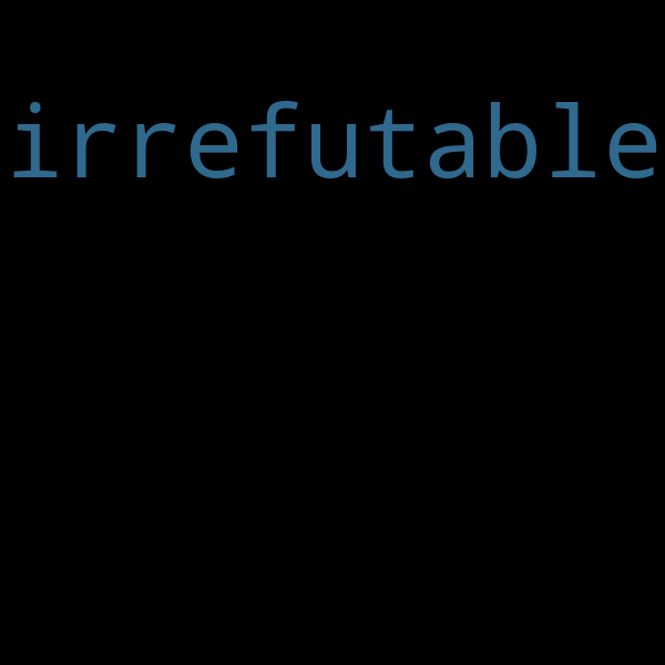 "20 examples : Use ""irrefutable"" in a sentence"