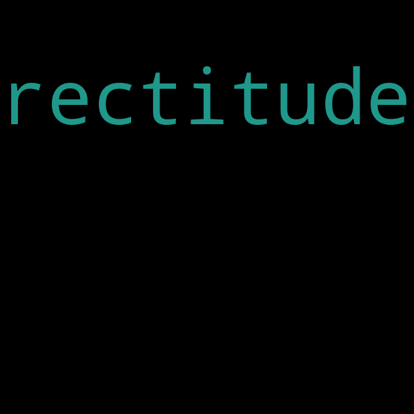 30 example sentences with « rectitude »
