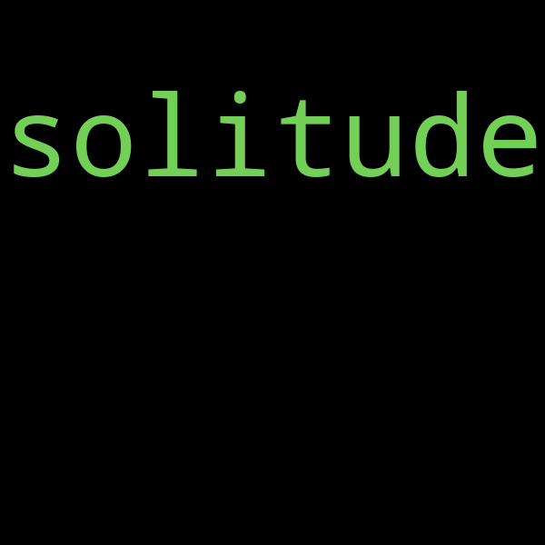 50 example sentences with « solitude »