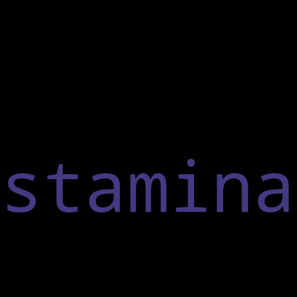 12 example sentences with « stamina »
