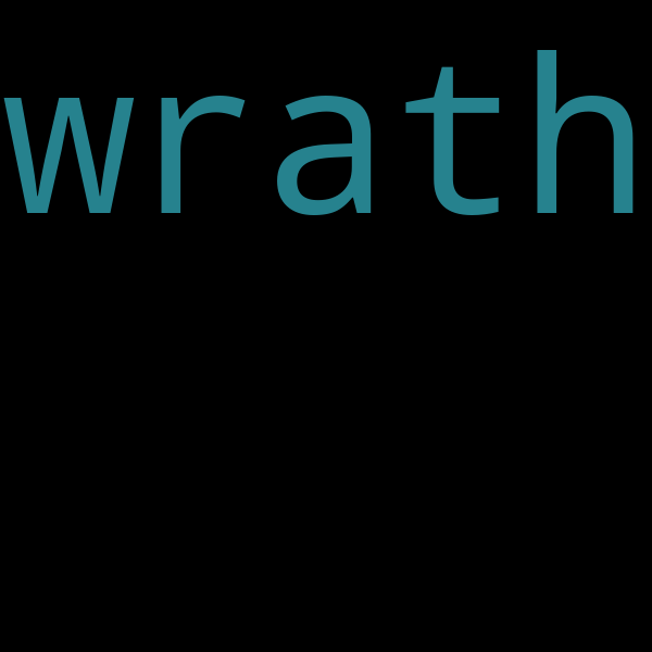 50 example sentences with « wrath »