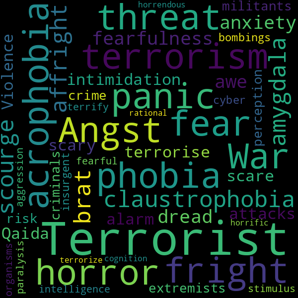 19 Words Relating to « terror »