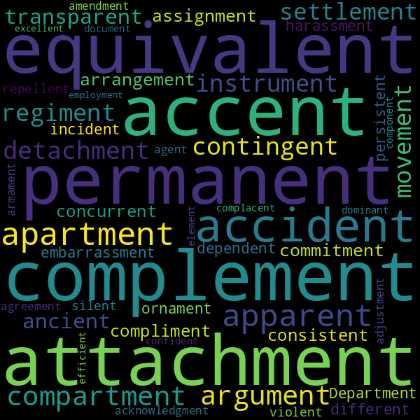 4 Words that Rhyme with « adjacent »