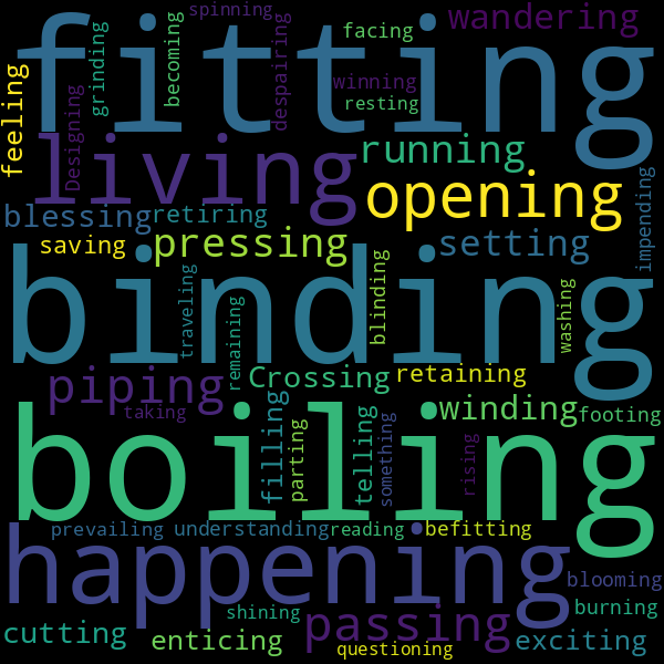 10 Words that Rhyme with « beginning »