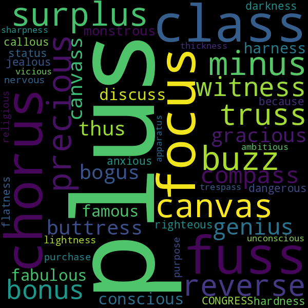 11 Words that Rhyme with « bus »