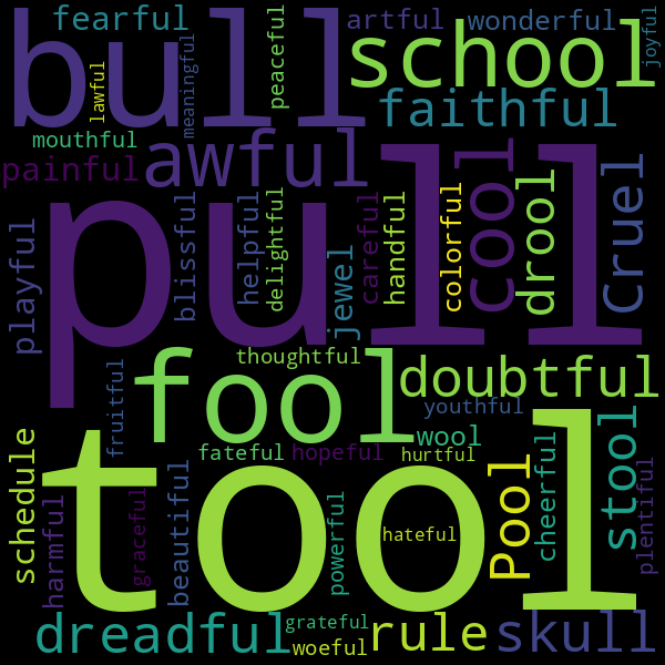 4 Words that Rhyme with « full »