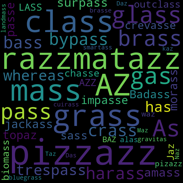 7 Words that Rhyme with « jazz »