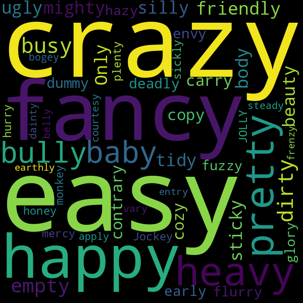 6 Words that Rhyme with « lazy »