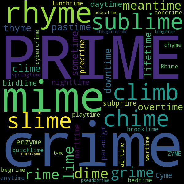 15 Words that Rhyme with « time »