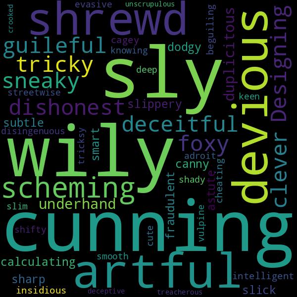 30 Synonyms For « Crafty