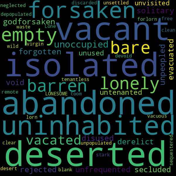 22 Synonyms For « Desolate
