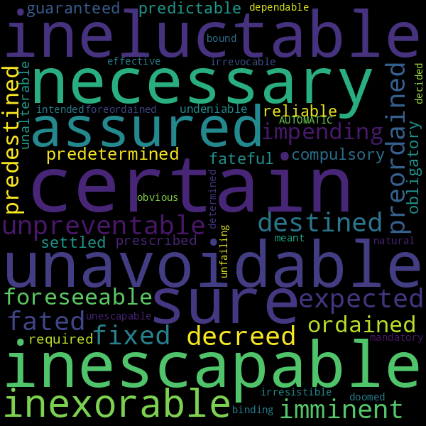 30 Synonyms For Inevitable Another way to say inevitable? inspirassion