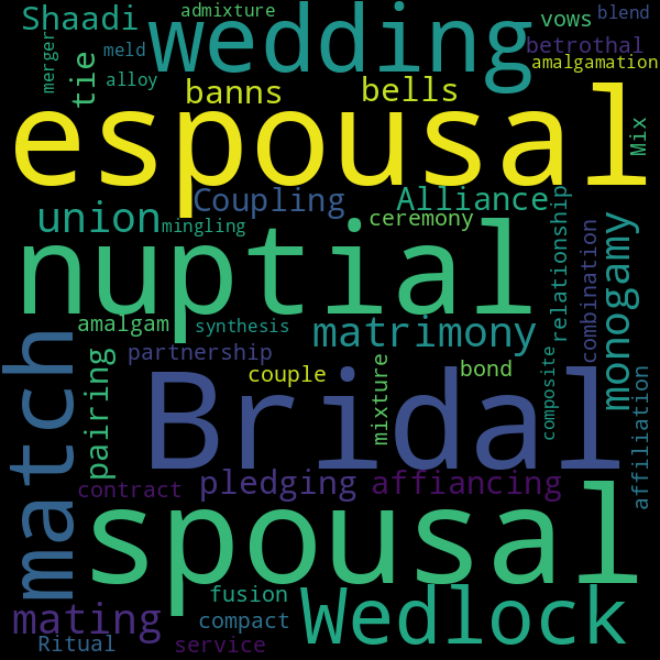 21 Synonyms for « marriage »