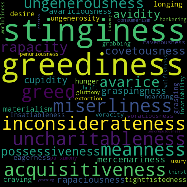 What Is A Synonym For Selfishness? / Collaboration And ...