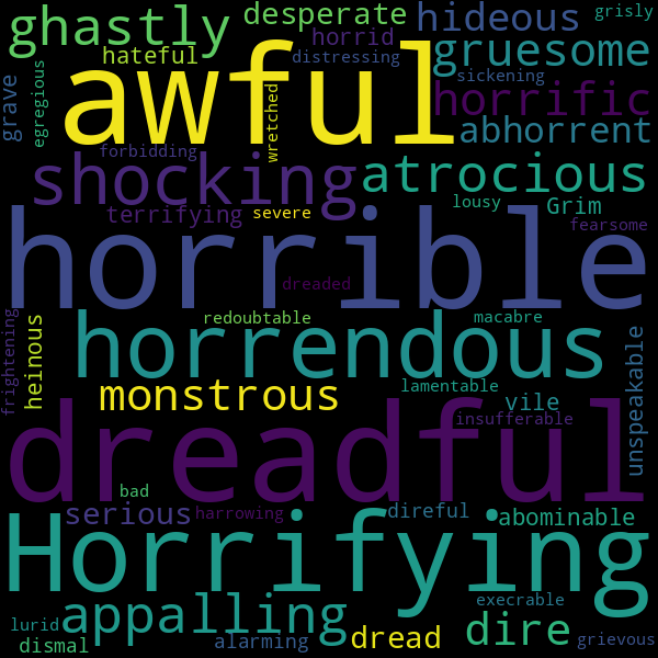 44 Synonyms For Terrible Another way to say desperate? inspirassion