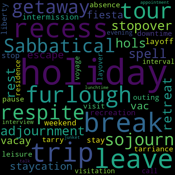 12 Synonyms for « vacation
