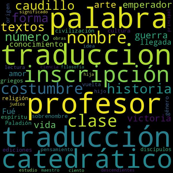 Etimología de palabras cotidianas  Es_nn_griego