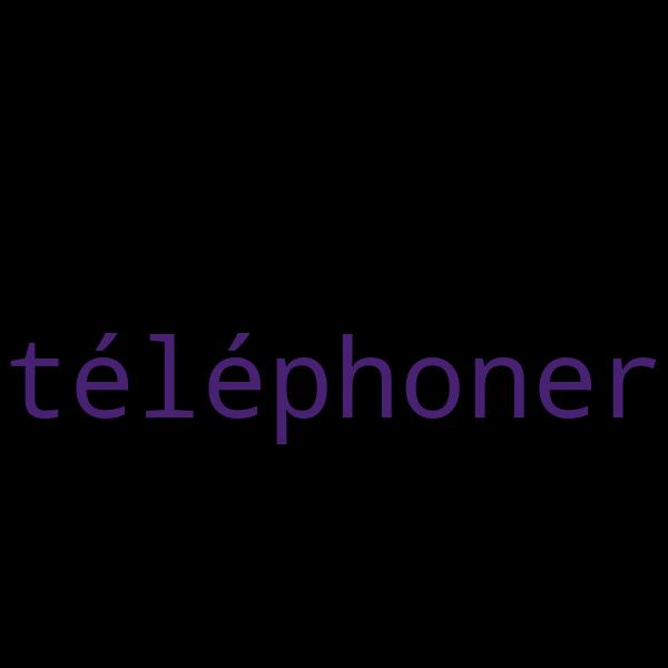10 exemples de phrases avec « téléphoner